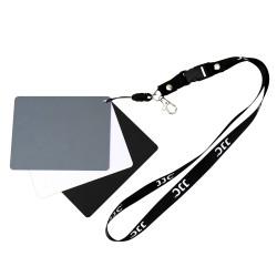 Kit 3 en 1 Gris/Blanc/noir pour balance des blancs.