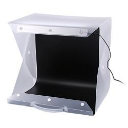 Koffer-Studio mit LED 25x25cm USB inkl. 3 Hintergründe