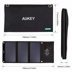 Chargeur solaire AUKEY 21w USB 2x 2A panneau solaire