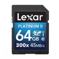 Lexar carte mémoire SDHC 64GB classe 10 Platinum 300x