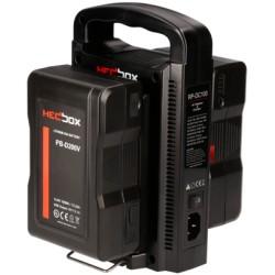 Kit HedBox 2x 98Wh Akkus V-Mount und Ladegerät gesamt 196Wh
