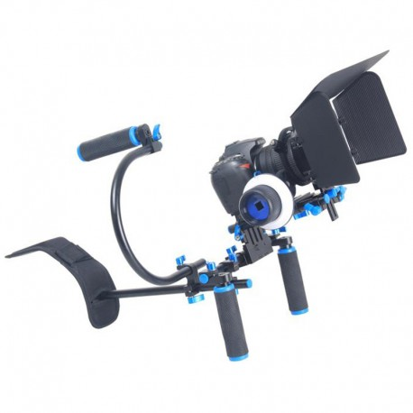 Steadycam d'épaule complet + follow focus + matte box