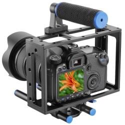 Cage vidéo universelle pour DSLR Nikon, Canon etc.