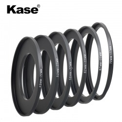 Bagues d'adaptation Kase 49-52-58-62-67-72 à 77mm