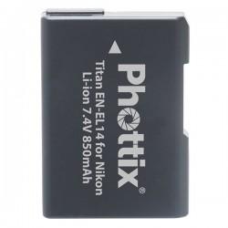 Akku Phottix Titan EN-EL14 für Nikon