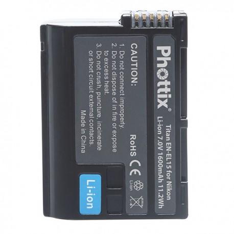 Batterie Phottix Titan EN-EL15 pour Nikon