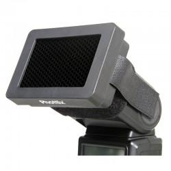 Grille nid d'abeille + gels pour flash cobra Nikon Canon