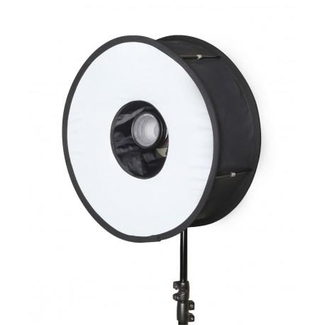 Diffuseur circulaire pliable pour flash cobra