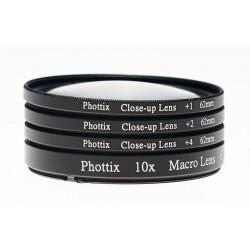 Makrolinsen Phottix 1x, 2x, 4x, 10x