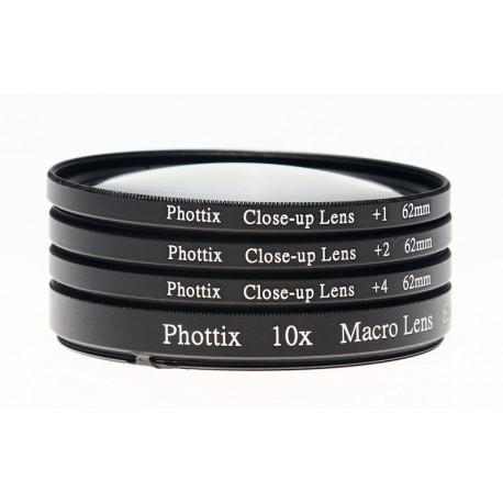 Bonnettes macro Phottix 1x, 2x, 4x, 10x