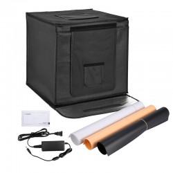 Foto-Studio-Box mit LED 40 x 40 cm faltbar inkl. 3 Hintergründe