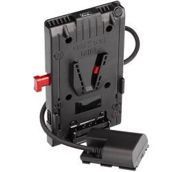 Hedbox UNIX-LPE6 pour Canon LP-E6 Alim V-Mount