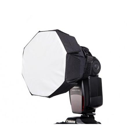 Diffuseur Octagonal Rafalia pour flash cobra Nikon Canon