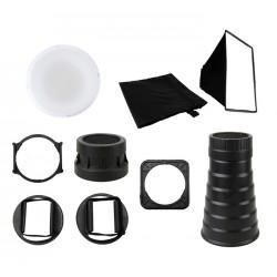 Kit d'accessoires pour éclairage au flash 5 en 1 FK-9 de JJC