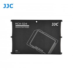 Aufbewahrungs-Etui im Kreditkartenformat für 4 SD/SDHC/SDXD-Karten