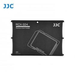 Etui de rangement pour 4x cartes SD/SDHC/SDXD format carte de crédit