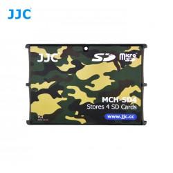 Etui de rangement pour 10x cartes microSD format carte de crédit camouflage