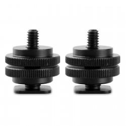 SmallRig 2x adaptateur griffe de flash cold shoe à filetage 1/4 - 1631