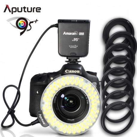 Flash circulaire à LED pour macro Amaran Halo HC100 pour Canon