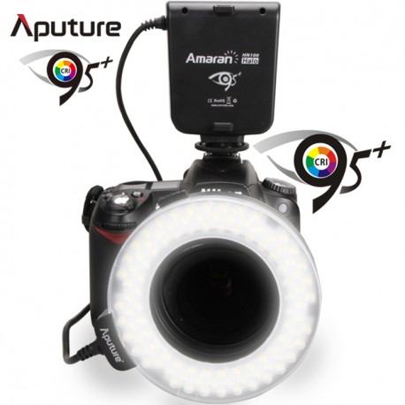Flash circulaire à LED pour macro Amaran Halo HN100 pour Nikon
